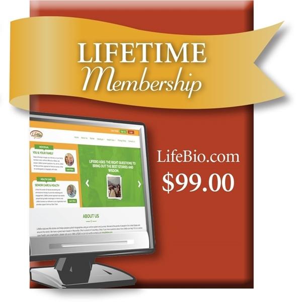 Picture of LifeBio.com Lifetime Web Membership