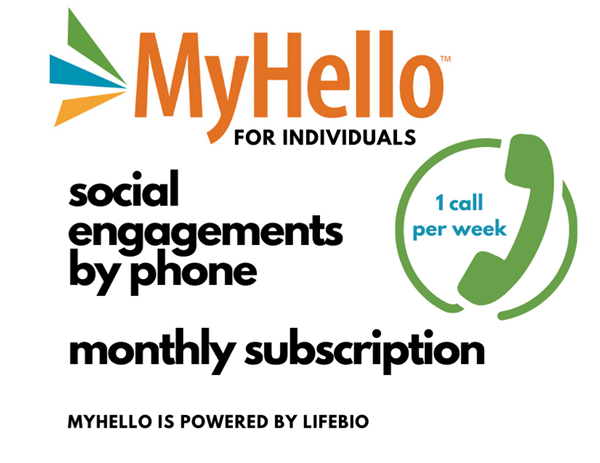 Picture of MyHello - Weekly Calls for Individuals